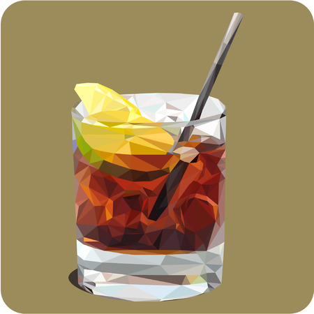 Whiskey with ice.