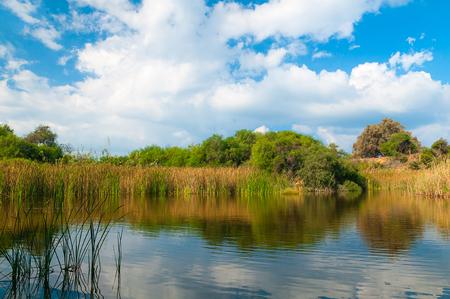 ashdod: beautiful lake near Ashdod in Israel