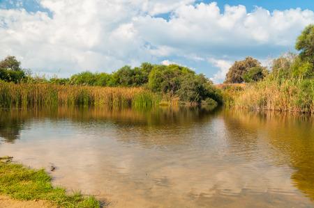 ashdod: beautiful lake near Ashdod in Israe