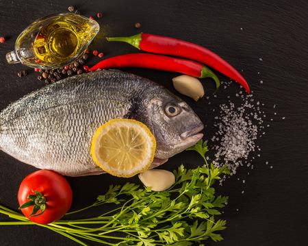 purified: Purified sea fish on a cutting board Stock Photo