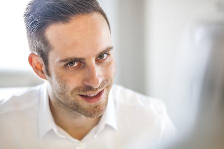Portrait of young businessman in office Reklamní fotografie