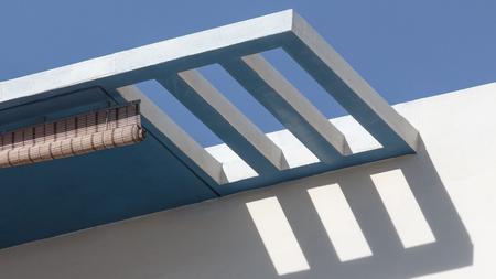 architect: Modernist style balcony covering in Xemxija, Malta Stock Photo