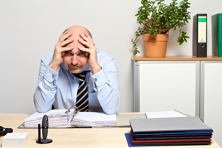 no way out for desperate manager Stock Photo