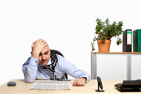 listless: Manager looks depressed on stock prices