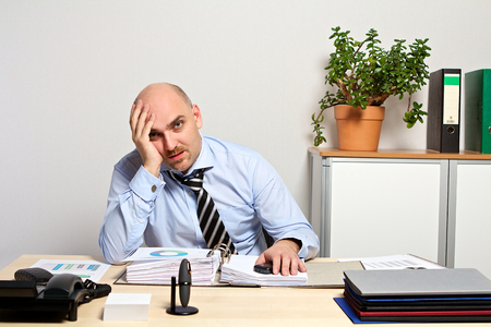 listless: Manager Burnout Stock Photo