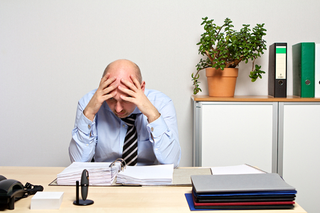 listless: Manager is overburdened Stock Photo