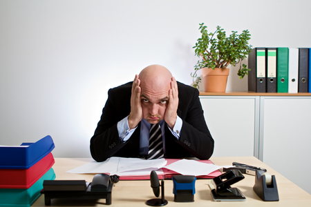 freak out: totally stressed manager