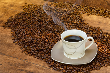 ambience: Coffee in the atmospheric ambience Stock Photo