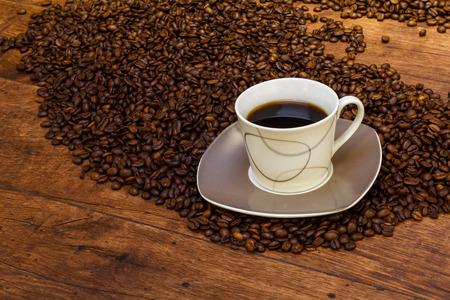 Coffee in the atmospheric ambience Standard-Bild