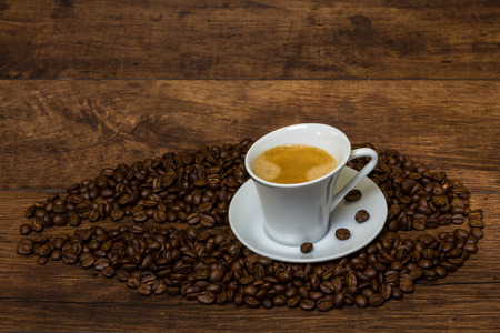 crema: Cup of delicious coffee crema Stock Photo