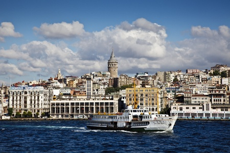 byzantium: galata tower, istanbul