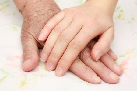 helping hand: Helping the senior