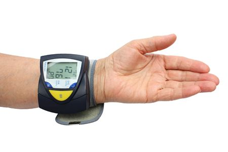 Blood pressure examination Stock Photo