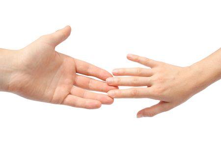 reaching hands: Bereiken van handen  Stockfoto