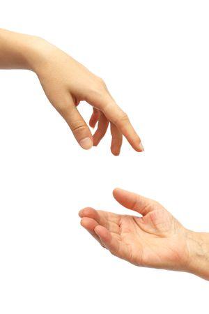 Hand giving photo