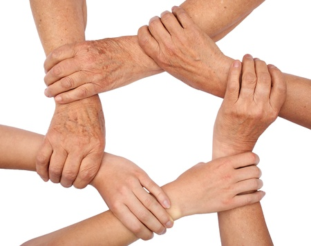 Ring of hands teamwork Stock Photo - 8752805