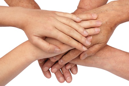 Hands on top of each other Stock Photo - 9092950