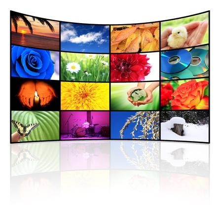 Tv-Panel Stock Photo