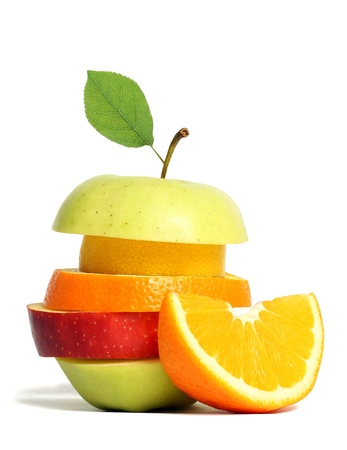 Fresh mixed fruit Stock Photo