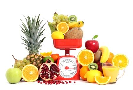 Frutas con escala Foto de archivo