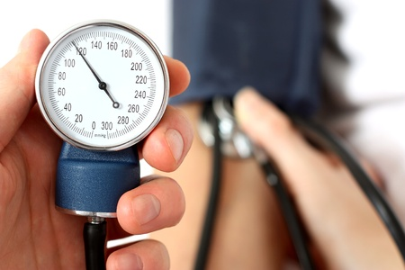 Measuring the blood pressure photo