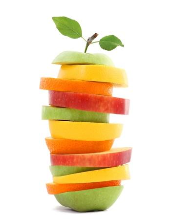 orange cut: Fruits mixed