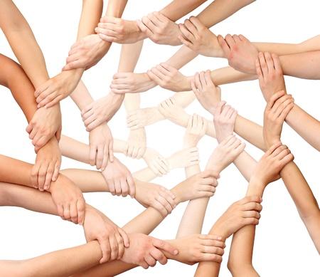 respeto: Anillo de las manos de muchos