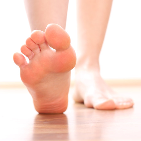 bare women: Women Foot stepping