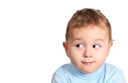 buen vivir: Bebé que mira lejos Foto de archivo