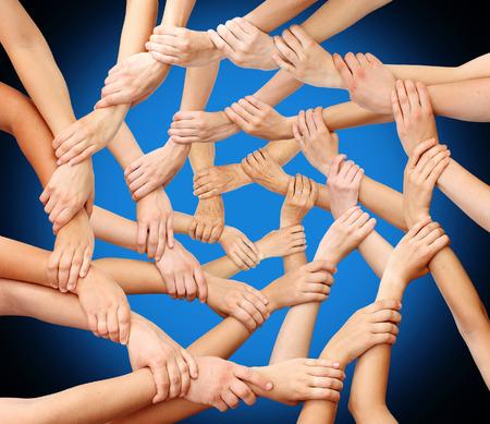 comunidad: Comunidad manos el trabajo en equipo