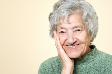 congenial: Cute old senior lady portrait