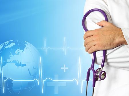 equipos medicos: Doctor con el fondo m�dico