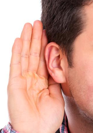 Ear listening 스톡 콘텐츠