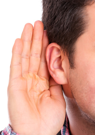 Ear listening Stock Photo