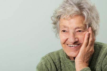 Happy senior portrait Banco de Imagens