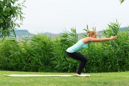 ardha: Awkward yoga pose