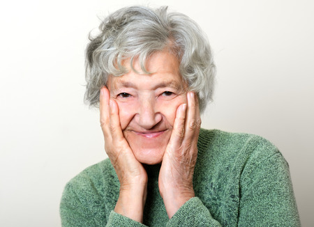 congenial: Happy senior portrait grandmother