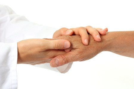 elderly patient: Helping hands Stock Photo