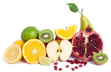 分離された新鮮なフルーツ ミックス 写真素材