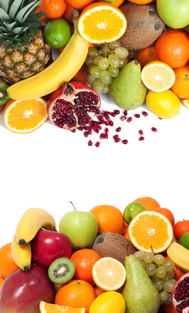 nonfat: Fruit background up and down Stock Photo