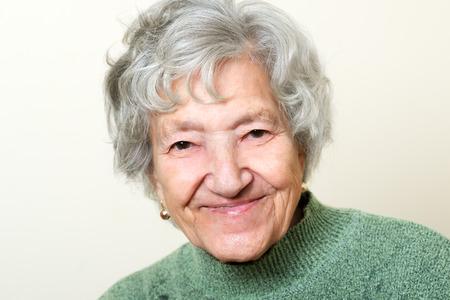 Happy senior lady portrait