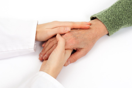 hand care: Holding senior hand care