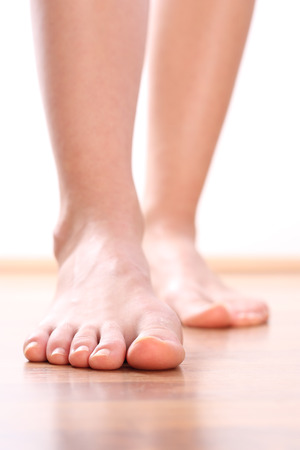feet soles: Legs Foot stepping Stock Photo