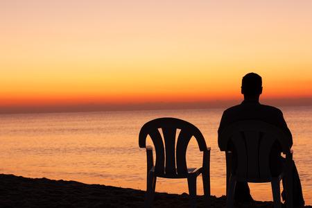 Sunset sad alone