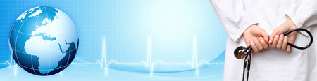hospital stress: Medical background banner