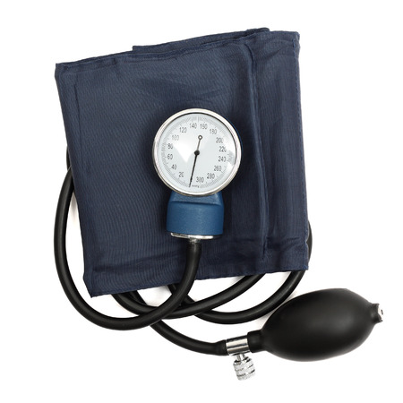 blood pressure bulb: Medical sphygmomanometer Stock Photo