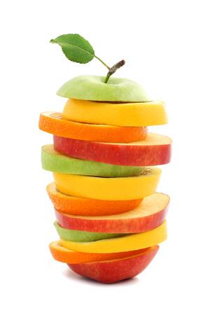 orange fruit: Mixed fruit apple orange lemon Stock Photo
