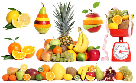 cocteles de frutas: conjunto de fruta mezclada