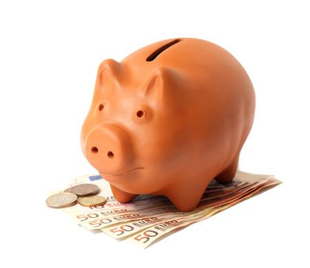 ceramiki: Piggy Bank with Euros