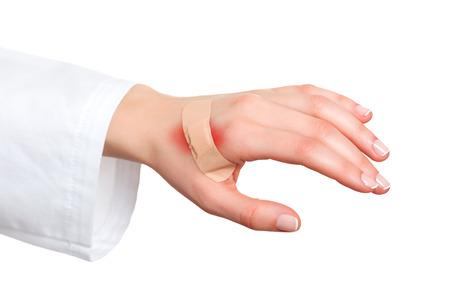 Pleister pleister op gewonde huid